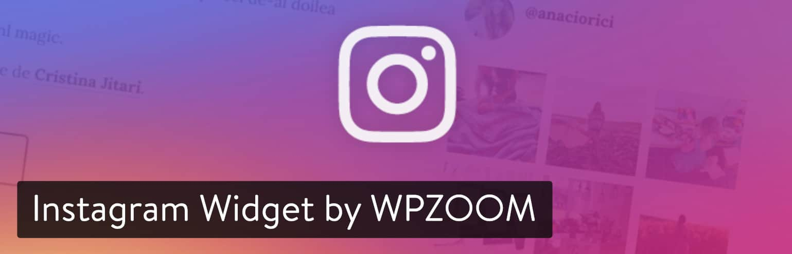 Extension WordPress Instagram Widget by WPZOOM