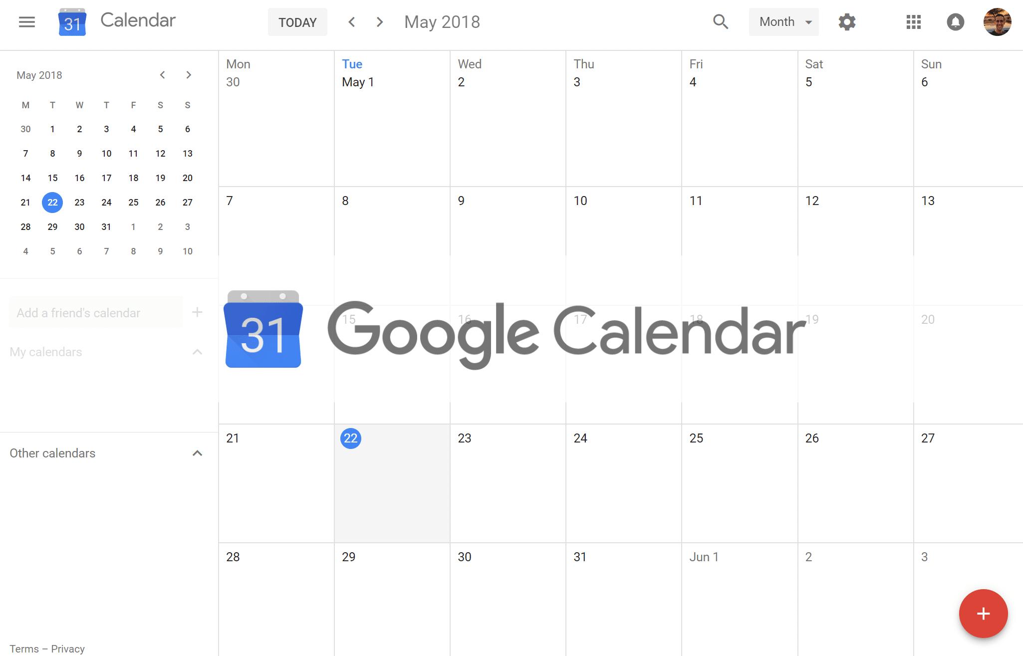 Calendrier Google