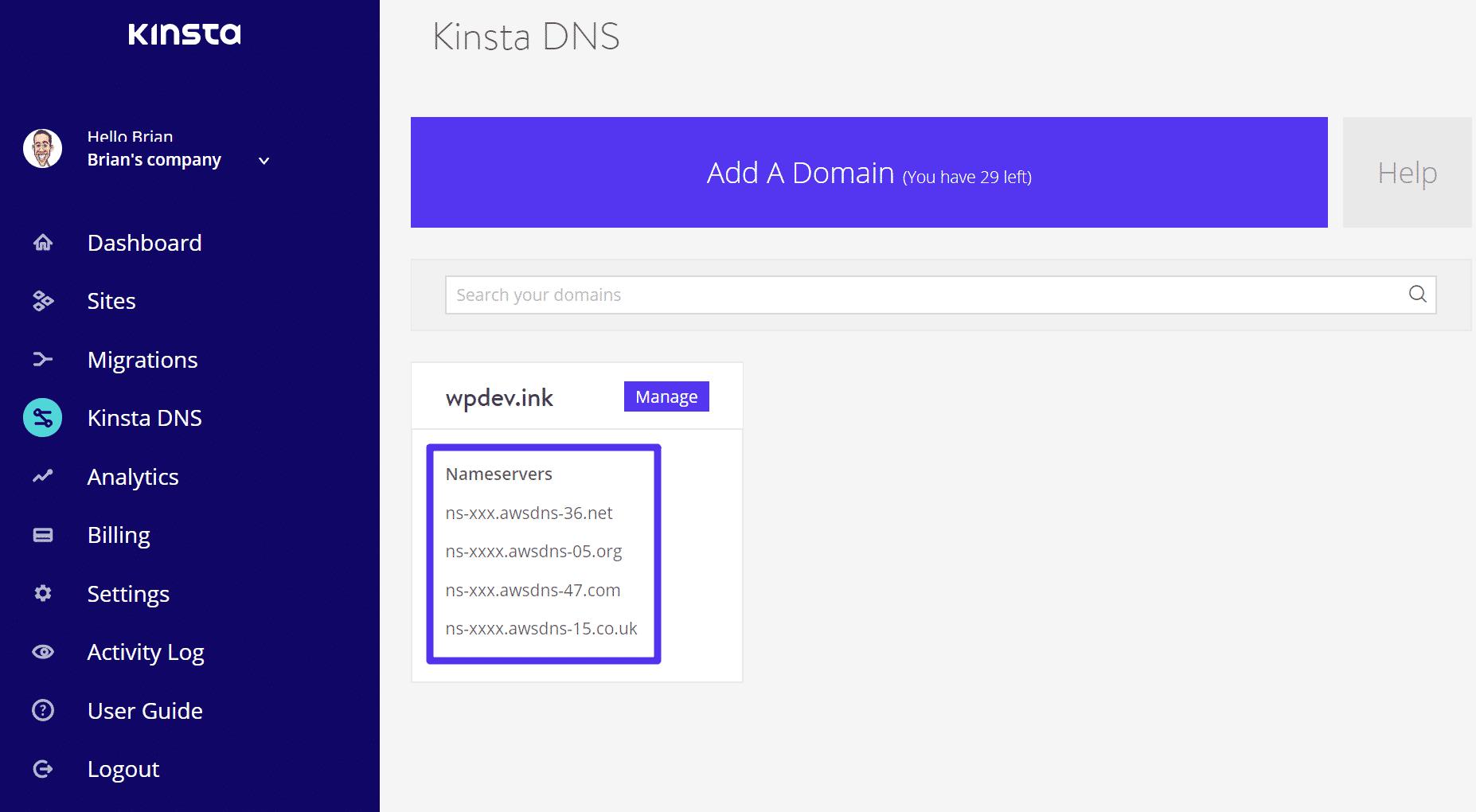 Serveurs de noms DNS