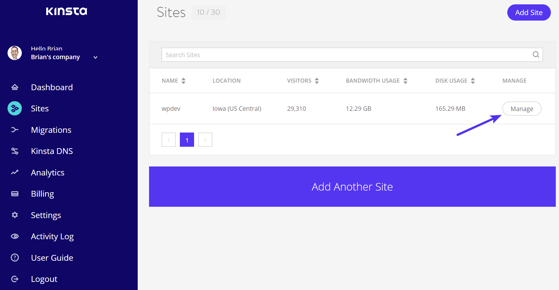 Gérer site WordPress