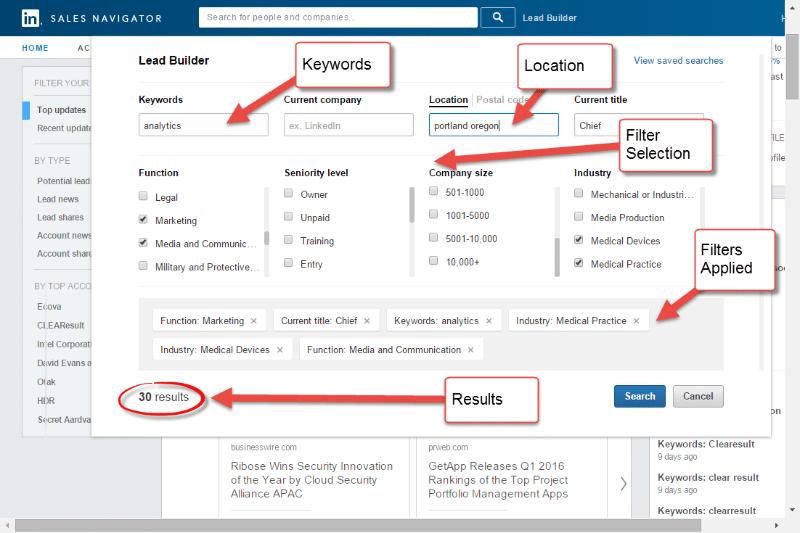 Constructeur de prospect LinkedIn Sales Navigator