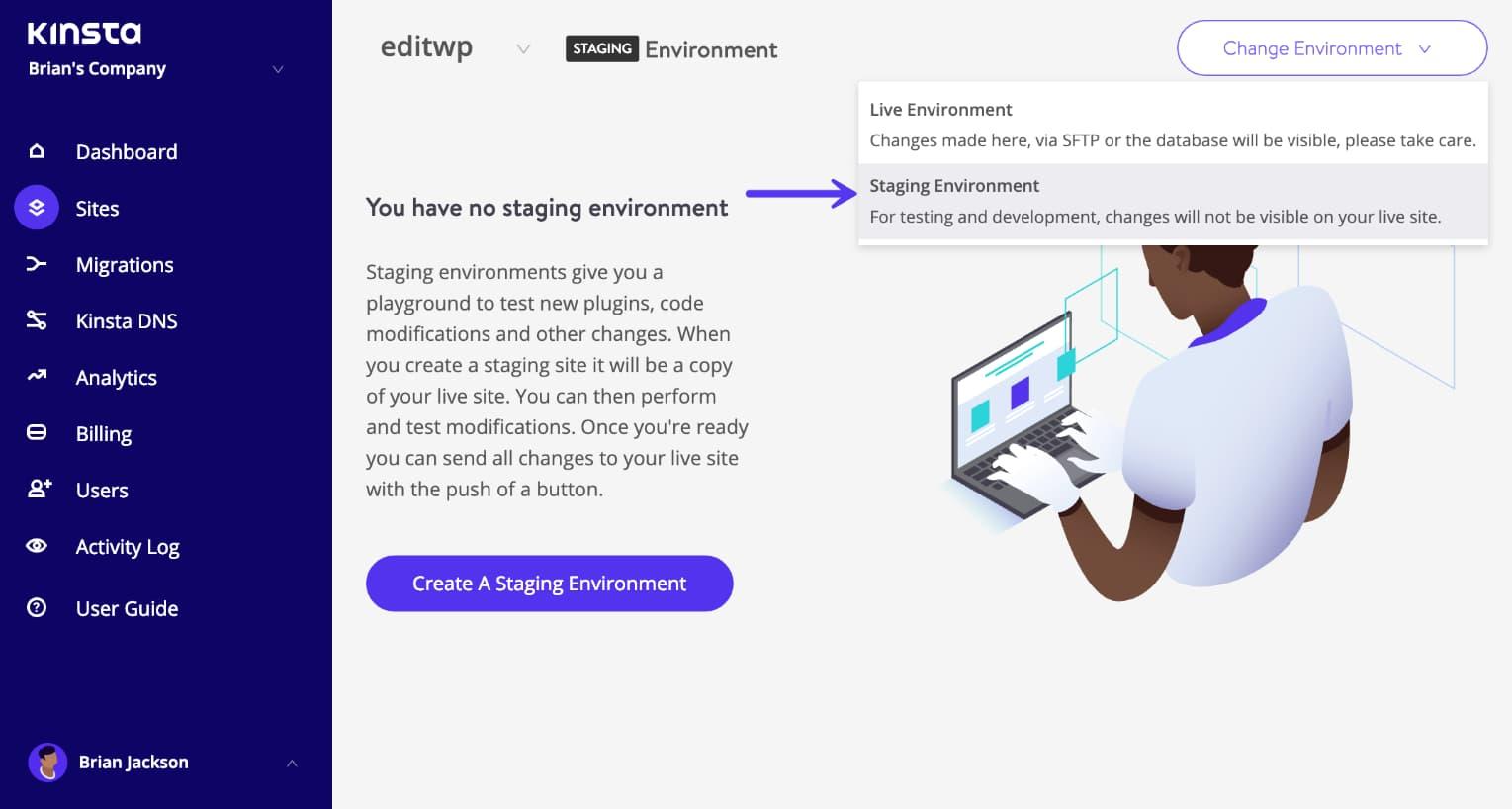 Environnement de staging WordPress