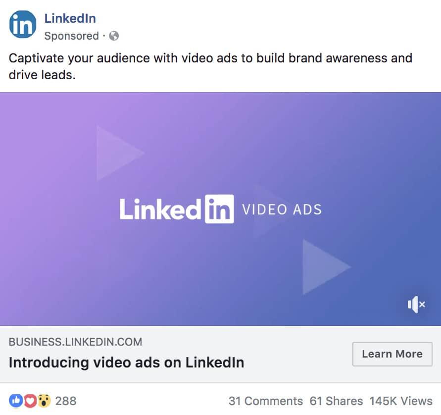 Publicité vidéo Facebook