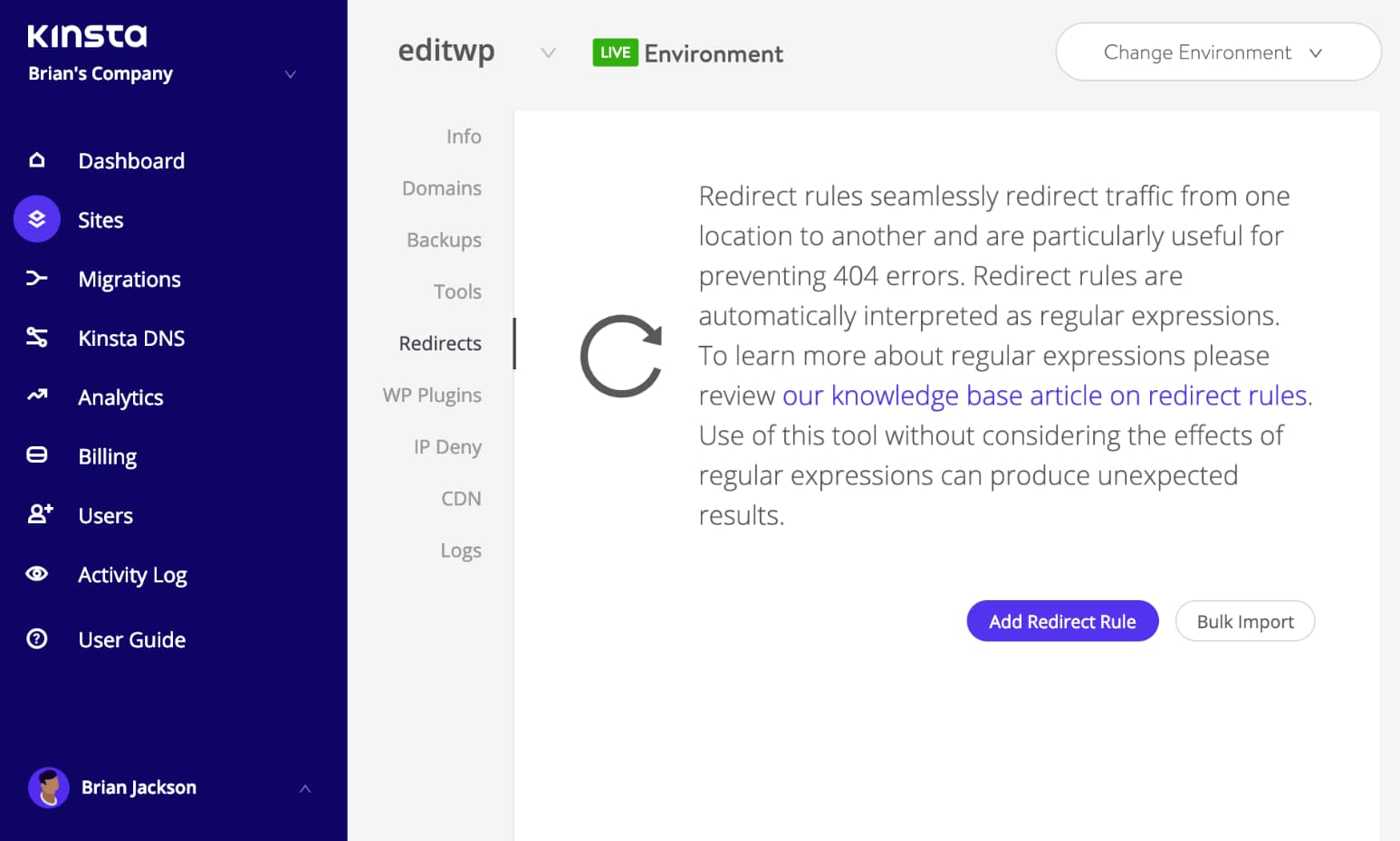 Redirections WordPress