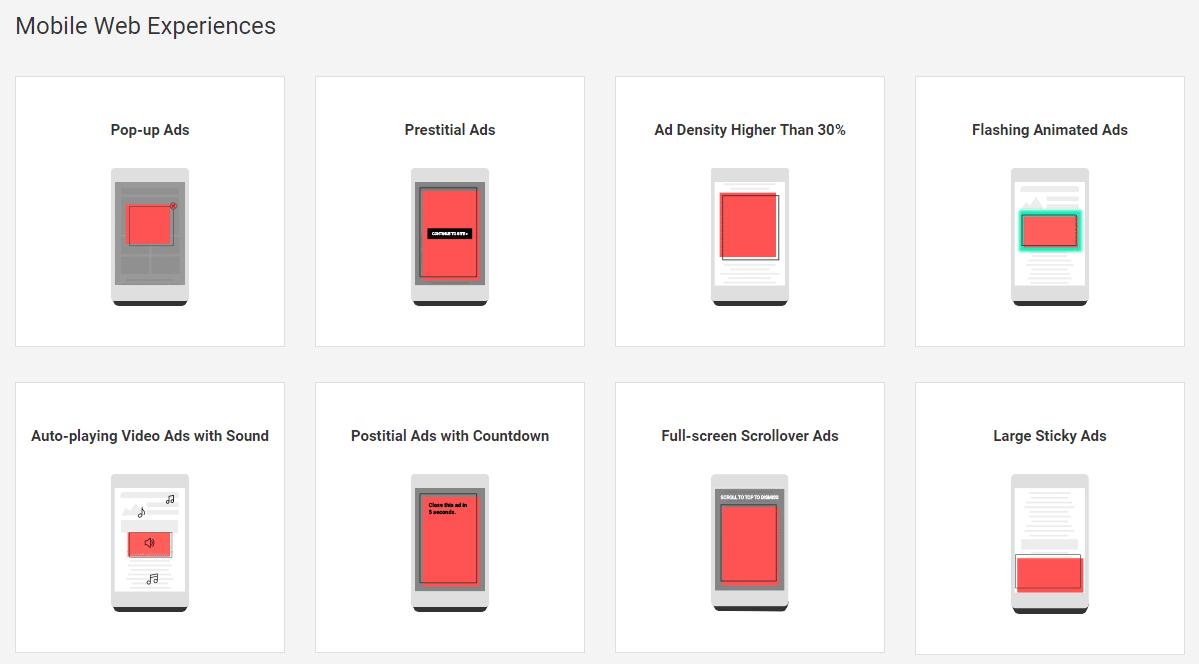 Expériences sur le web mobile