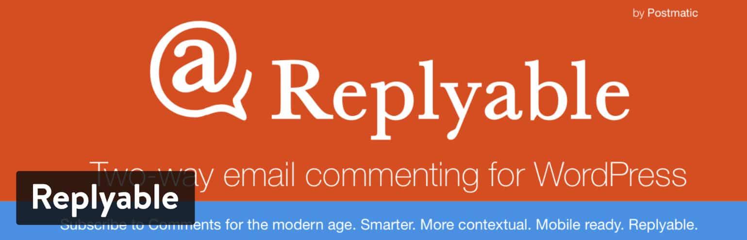 Plugin de commentaires WordPress Replyable.