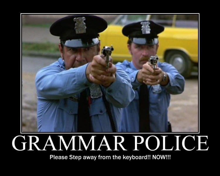 Police grammaticale