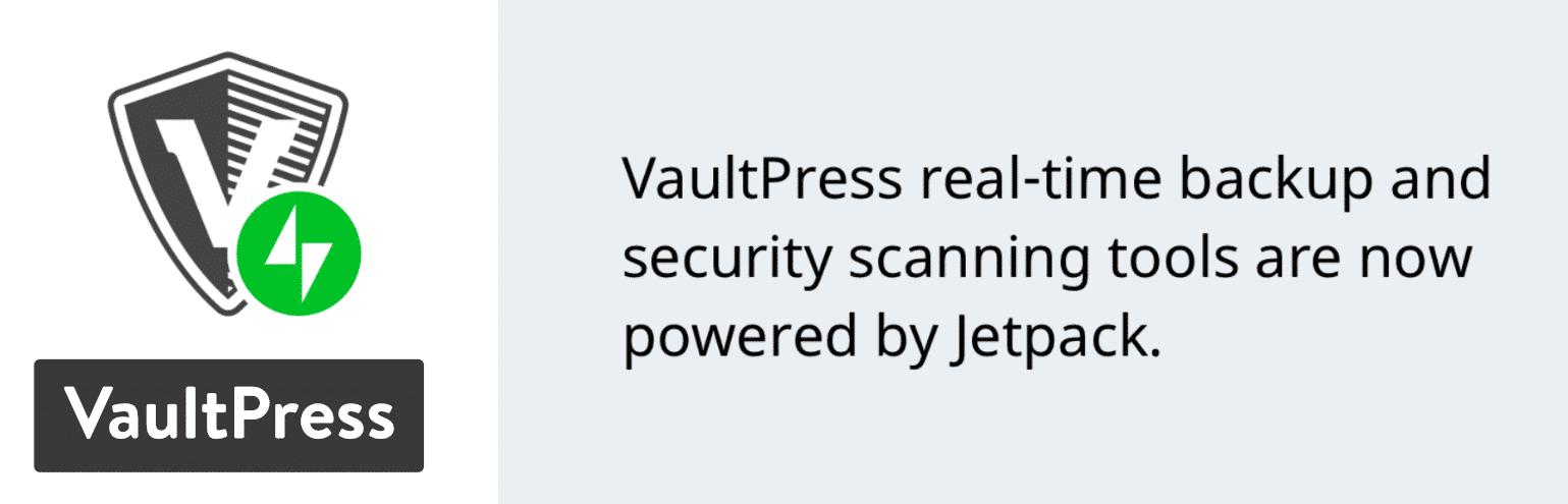 Plugin de sauvegarde VaultPress WordPress