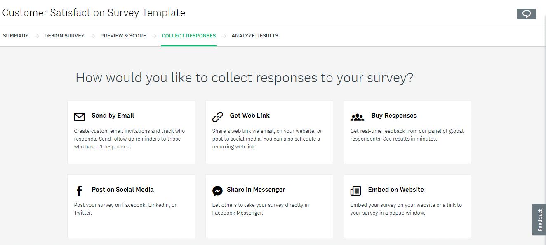 Recueillir les réponses à l'enquête