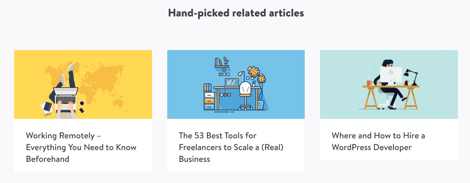 Articles relatifs dans WordPress