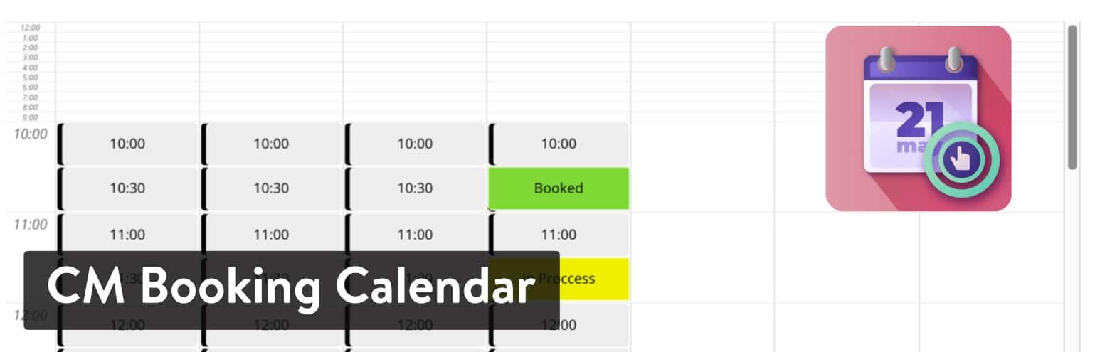 Extension CM Booking Calendar