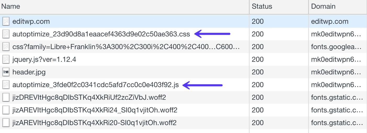 Fichiers CSS et Javascript combinés