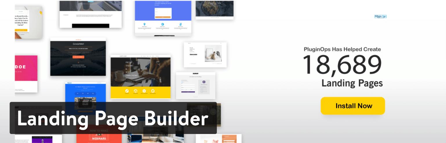 Plugin Landing Page Builder