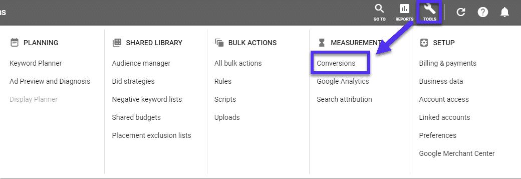 Conversions dans Google Ads