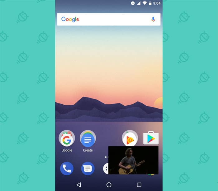 Fonction Picture-in-picture dans Android one