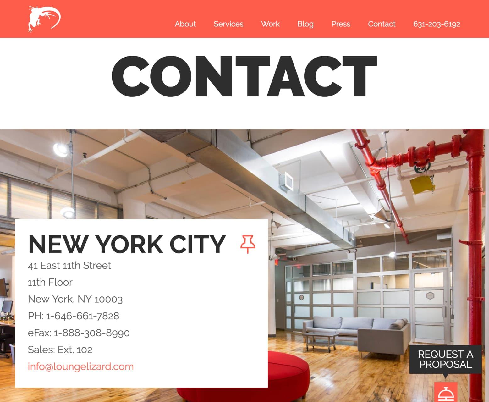 Site de portfolio CTA/contact