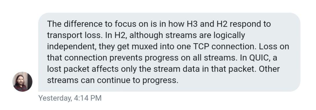 Lucas Pardue sur HTTP/3