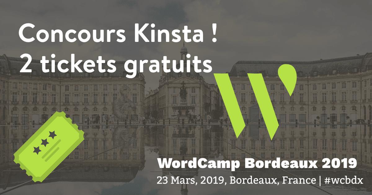 Concours WordCamp Bordeaux 2019