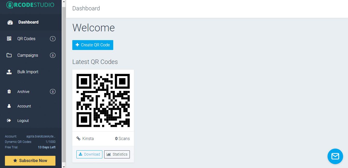 Liste de codes QR