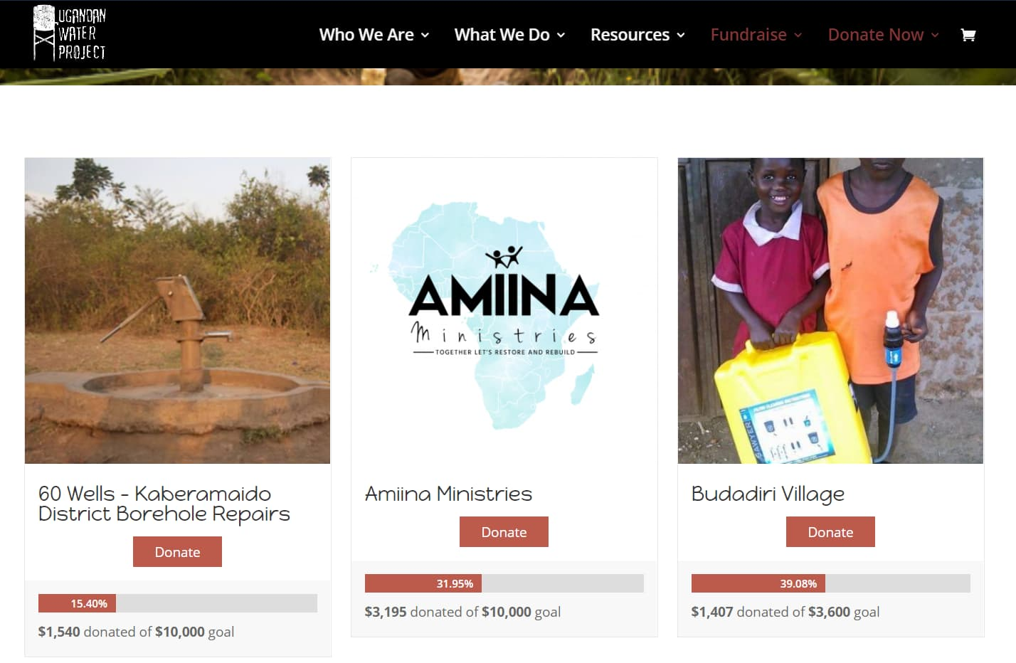 Projet d'eau en Ouganda