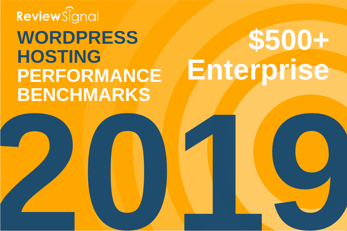 Benchmarks de Performance Hébergement WordPress 2019 de Review Signal