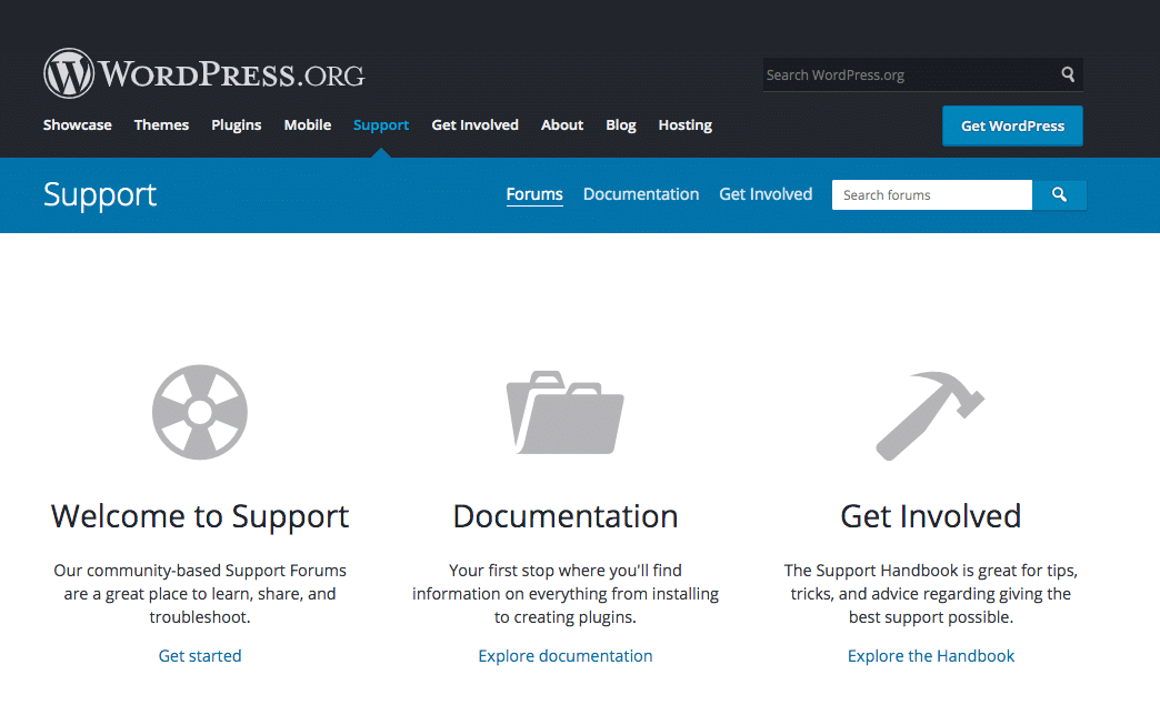 Forums de support WordPress