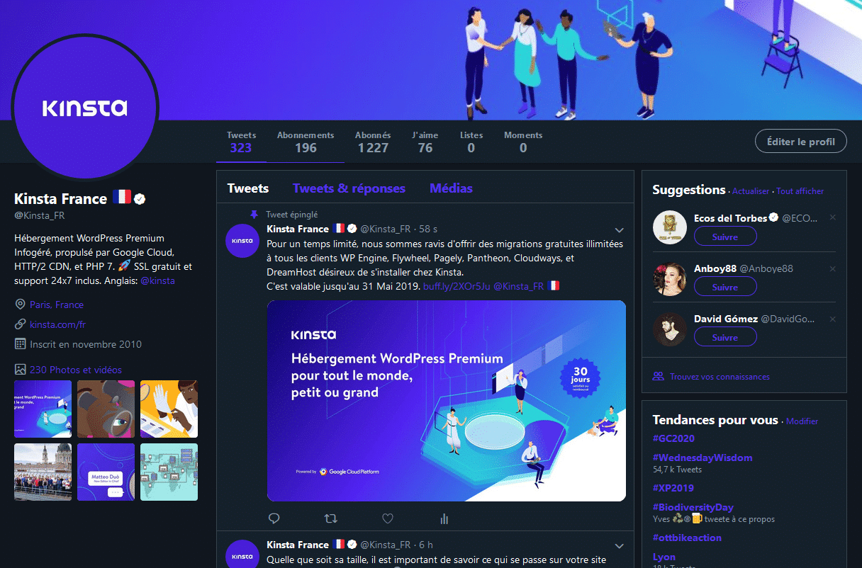 Twitter Kinsta France