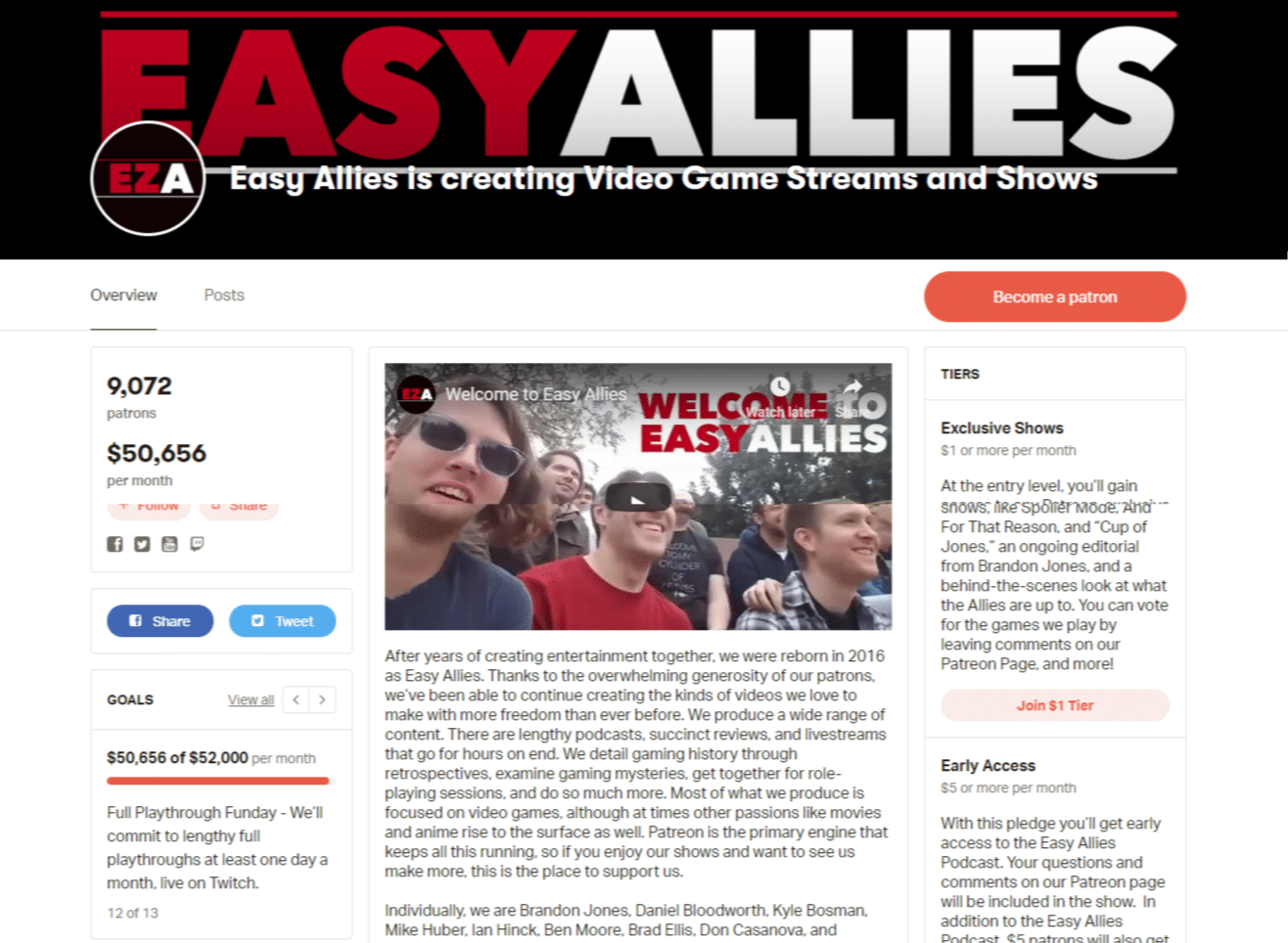 Easy Allies sur Patreon