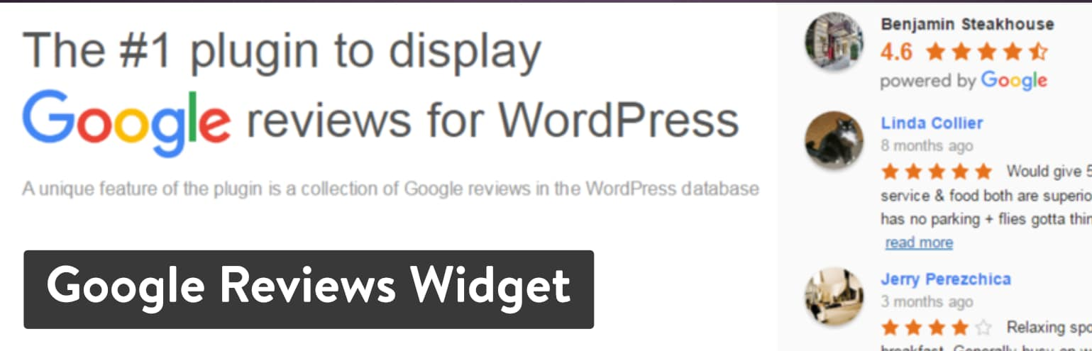 Meilleures extensions d'avis WordPress : Google Reviews Widget