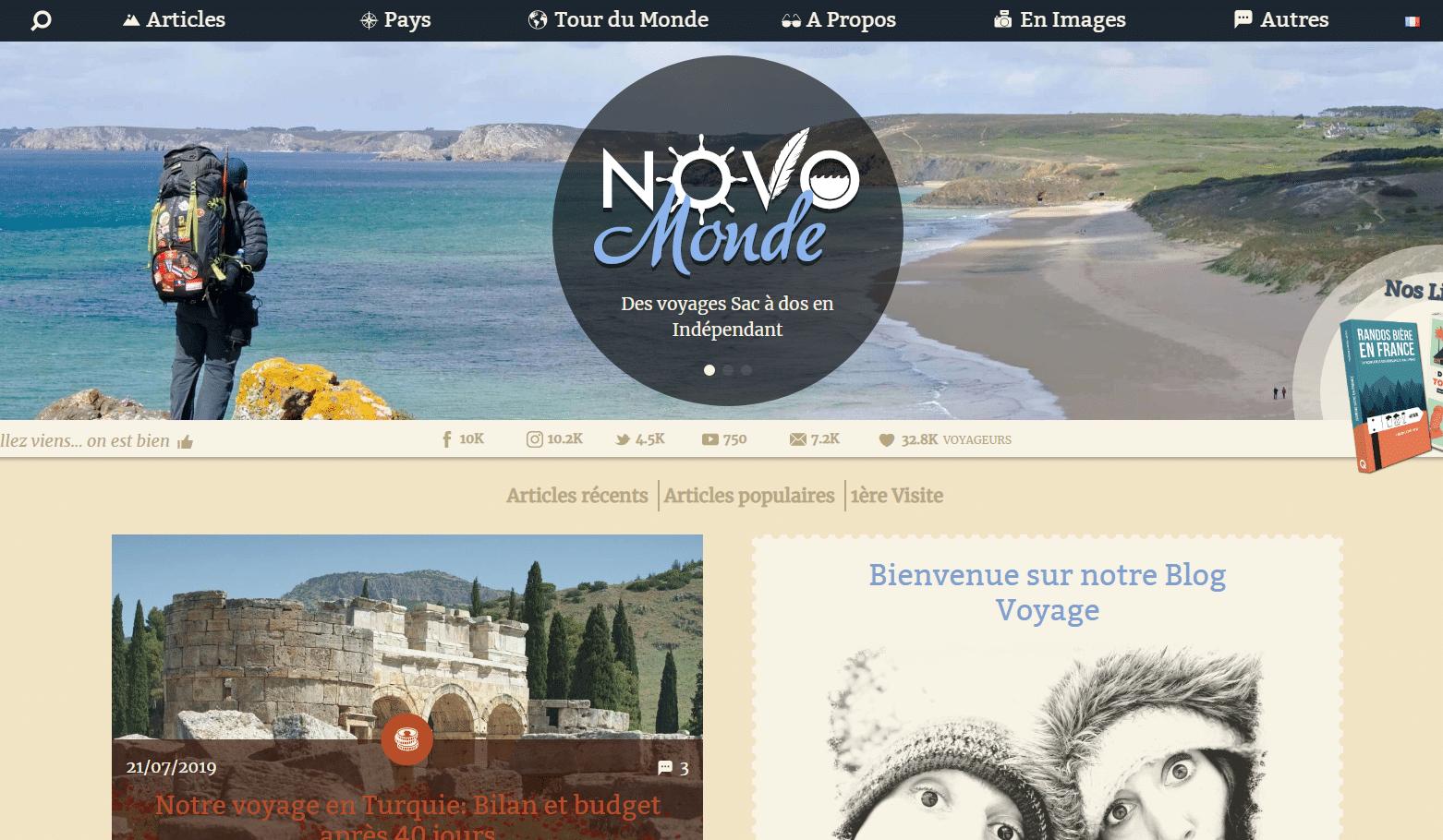 Blog de voyage Novo-Monde