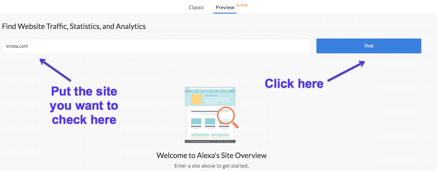 Vérificateur de classement Alexa