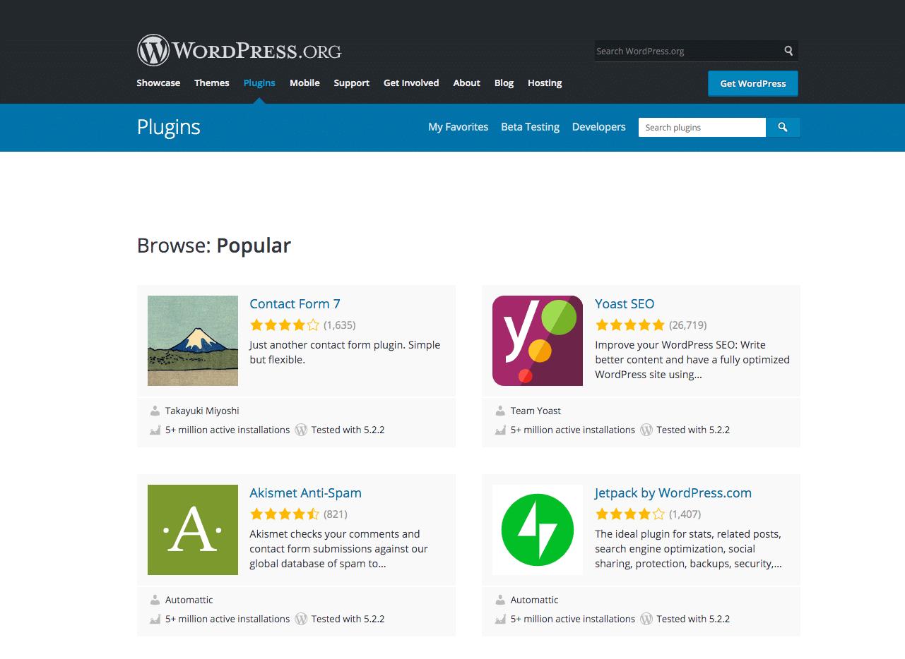 Le répertoire WordPress