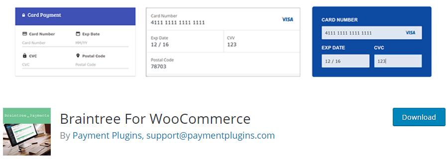 Braintree pour le plugin WooCommerce