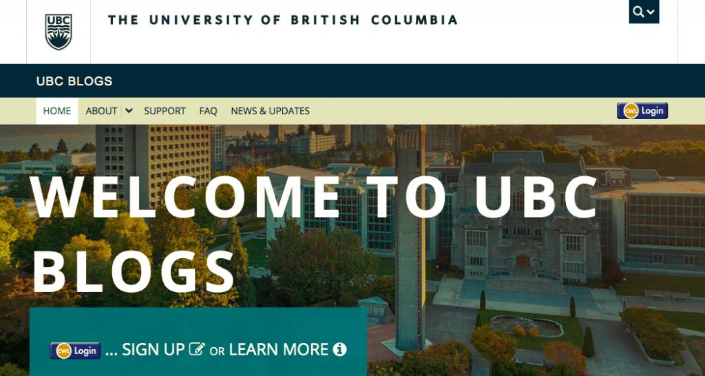 Blogs de l'UBC