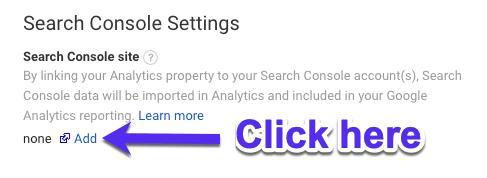 Comment ajouter GSC à Google Analytics