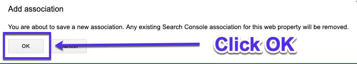 Confirmer GSC dans Google Analytics