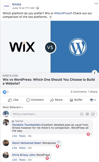 Facebook et engagez le dialogue avec eux