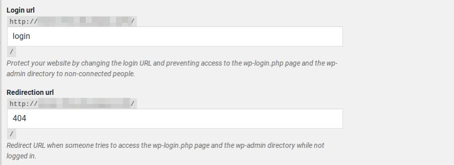 Modification de l'URL de connexion