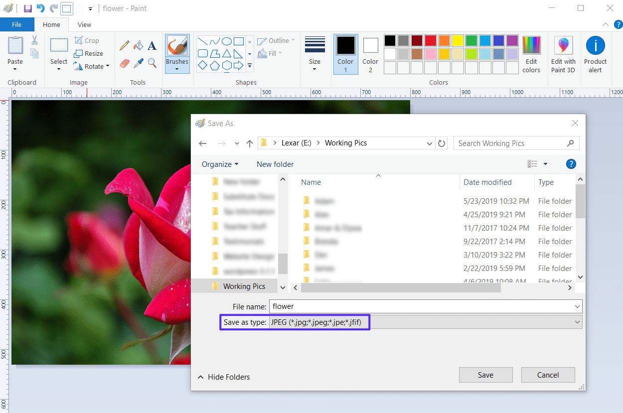 Format de fichier JPEG