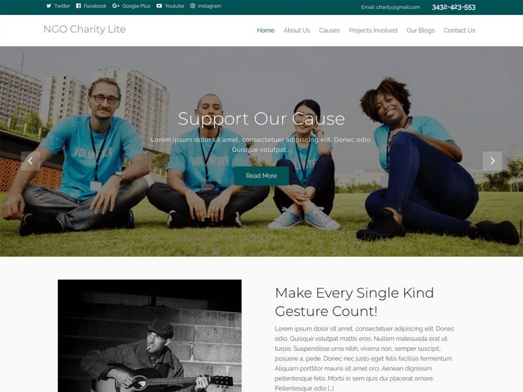 Thème ONG Charity Lite
