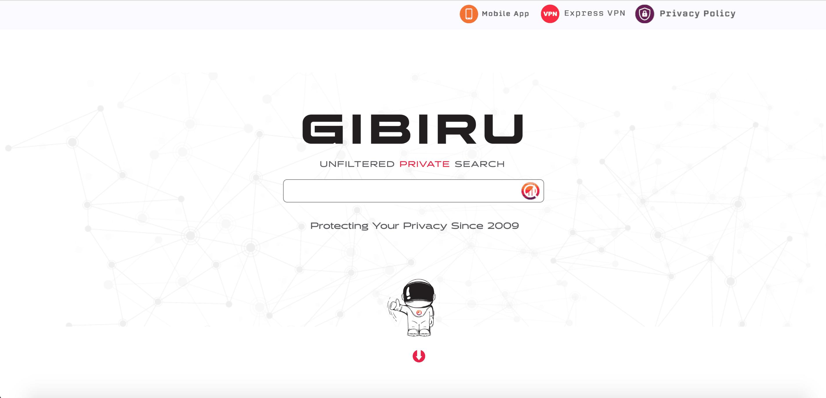 Moteur de recherche Gibiru