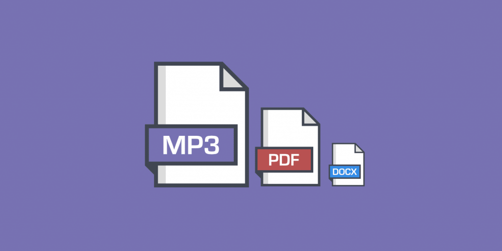 Comment décharger de façon optimale les fichiers PDF, DOCX, MP4 et MP3 ?