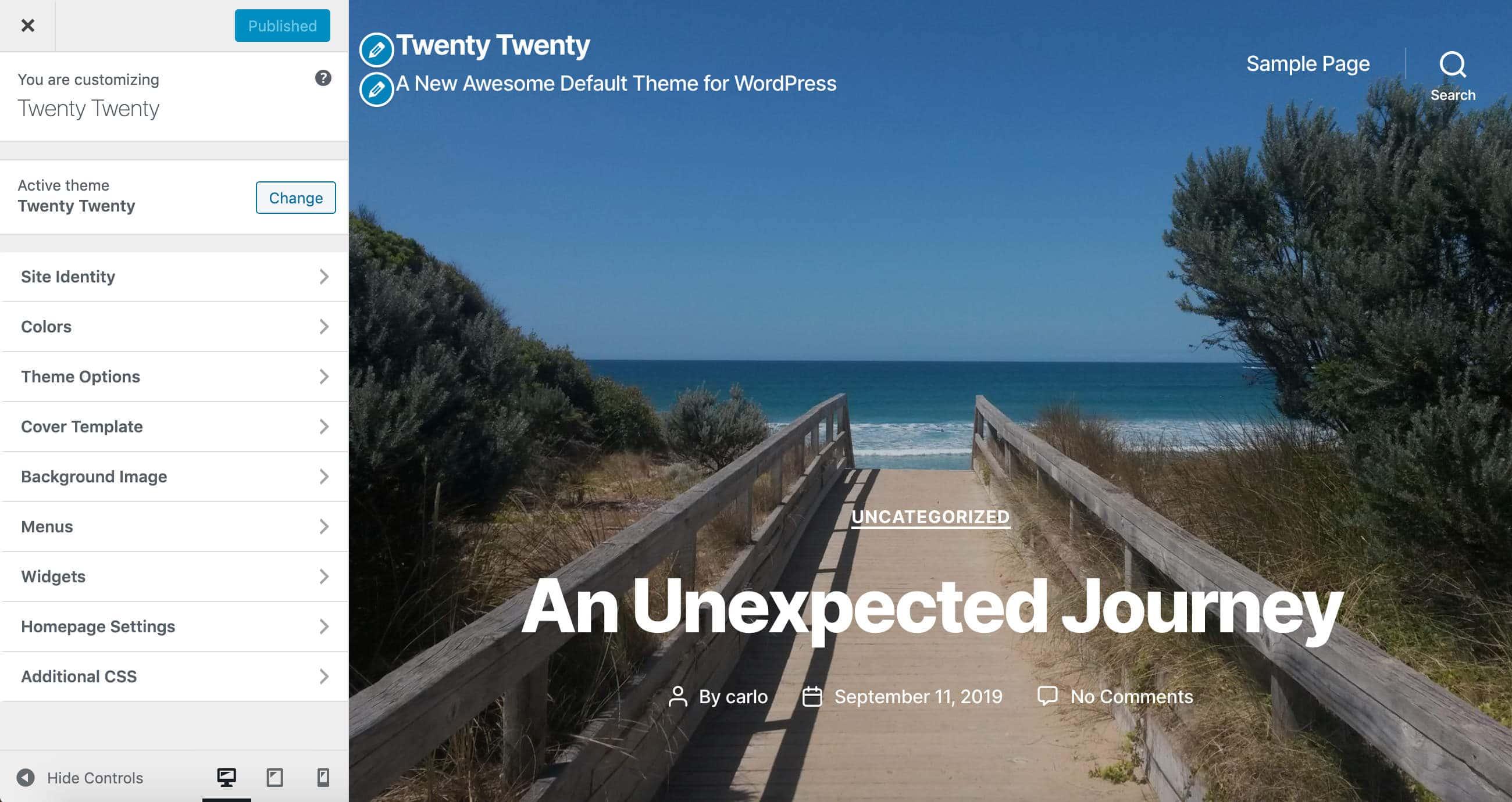La personnalisation du thème Twenty Twenty