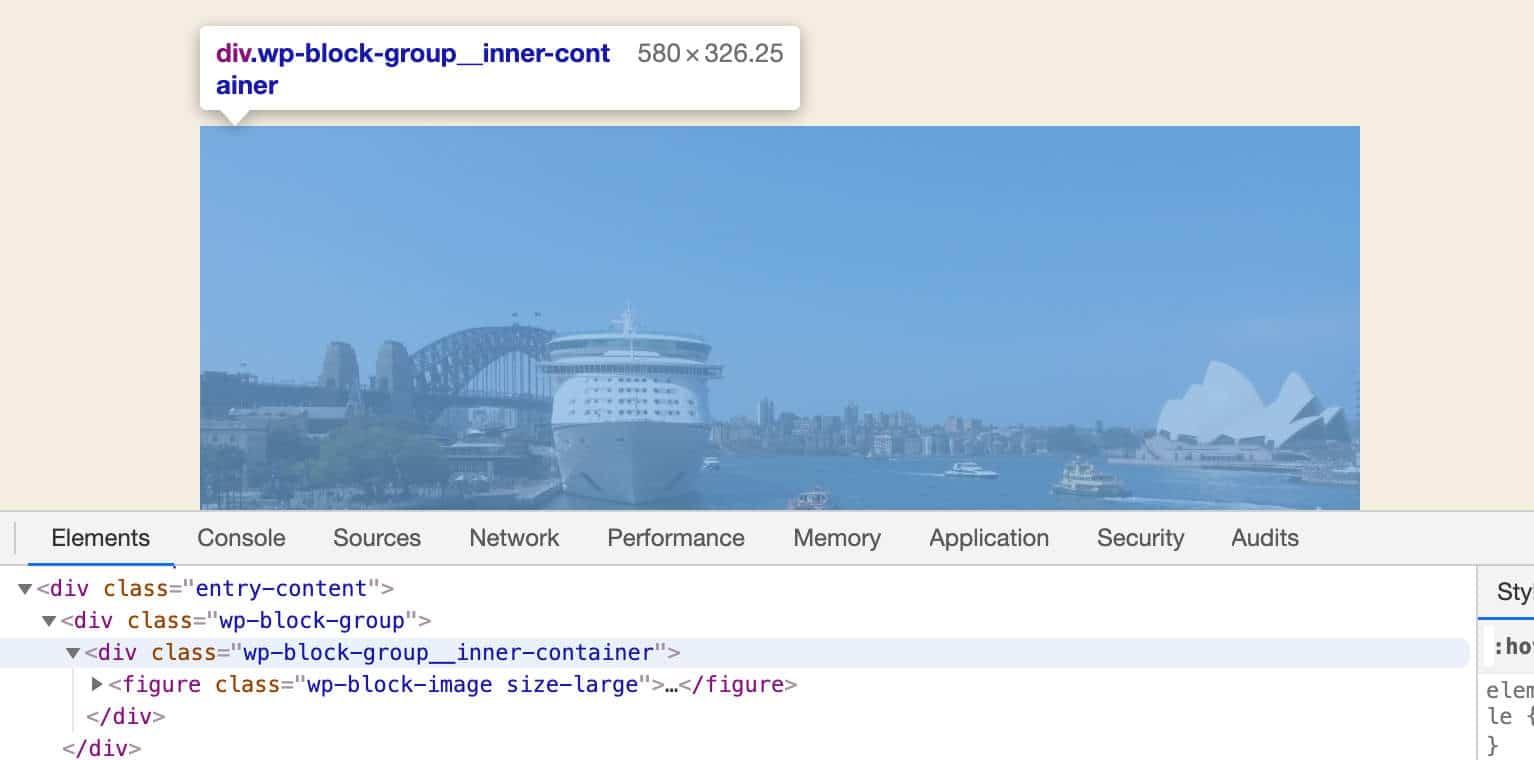 Conteneur intérieur de bloc de groupe sur l'interface publique