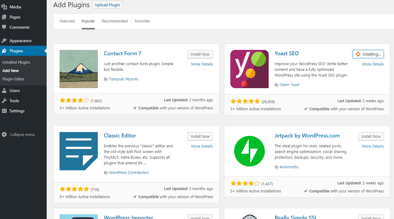 Installer l'extension Yoast SEO