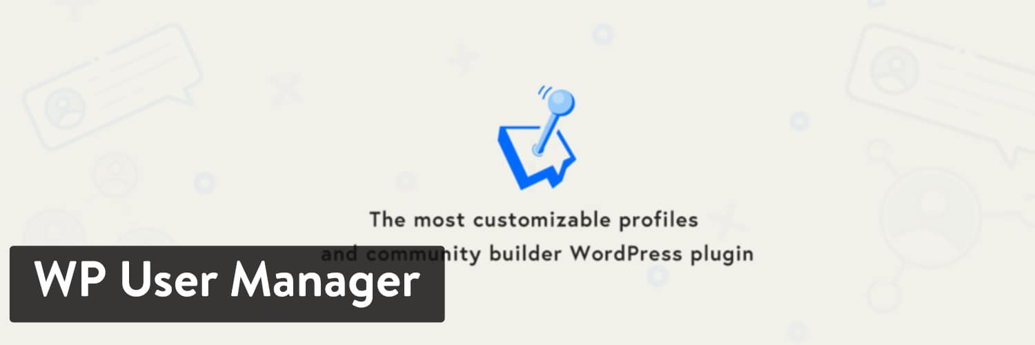 Extension WordPress WP User Manager