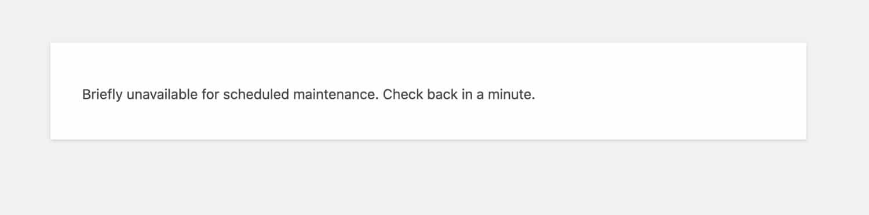Mode maintenance de WordPress