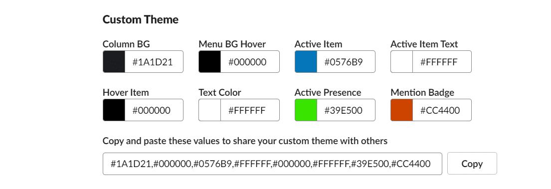 Modifier votre thème Slack