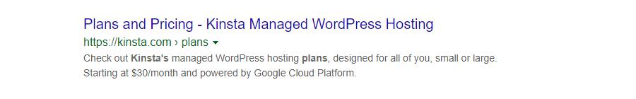 Méta-description d'une page de produit