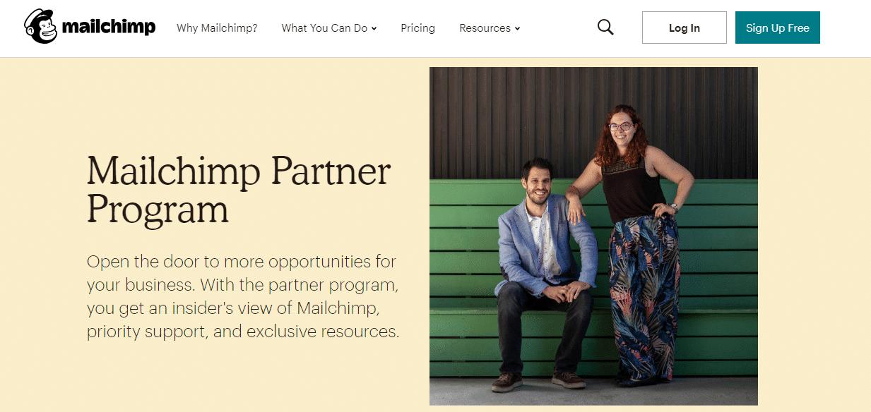 Programme de partenariat Mailchimp